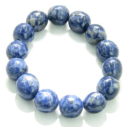 Amulet Healing Sodalite Tumbled Crystals Natural Powers Gemstone Bracelet