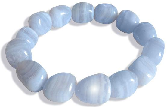 Good Luck Talisman Bracelet In Blue Lace Agate