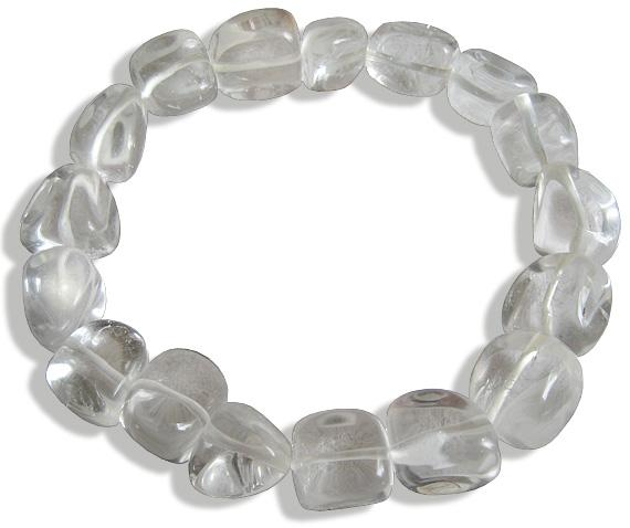 Crystal Quartz Evil Eye Protection Bracelet
