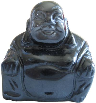 Happy Good Luck Buddha In Black Onyx