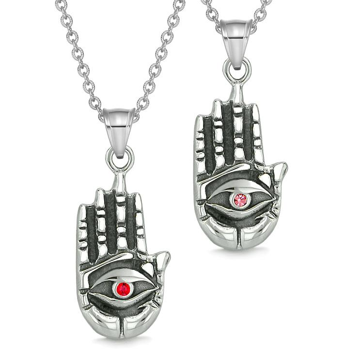All Seeing Feeling Buddha Eye Love Couples Best Friends Amulets Pink Red Pendant Necklaces