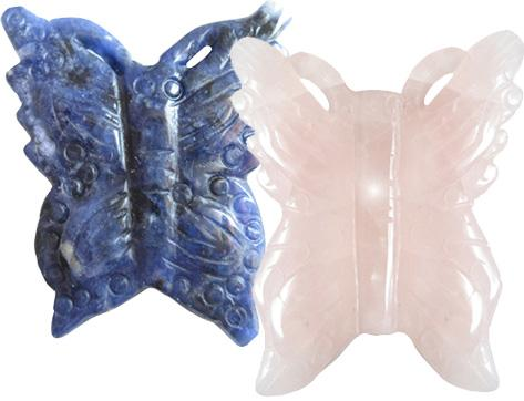 Lucky Charms Butterflies In Sodalite And Rose Quartz