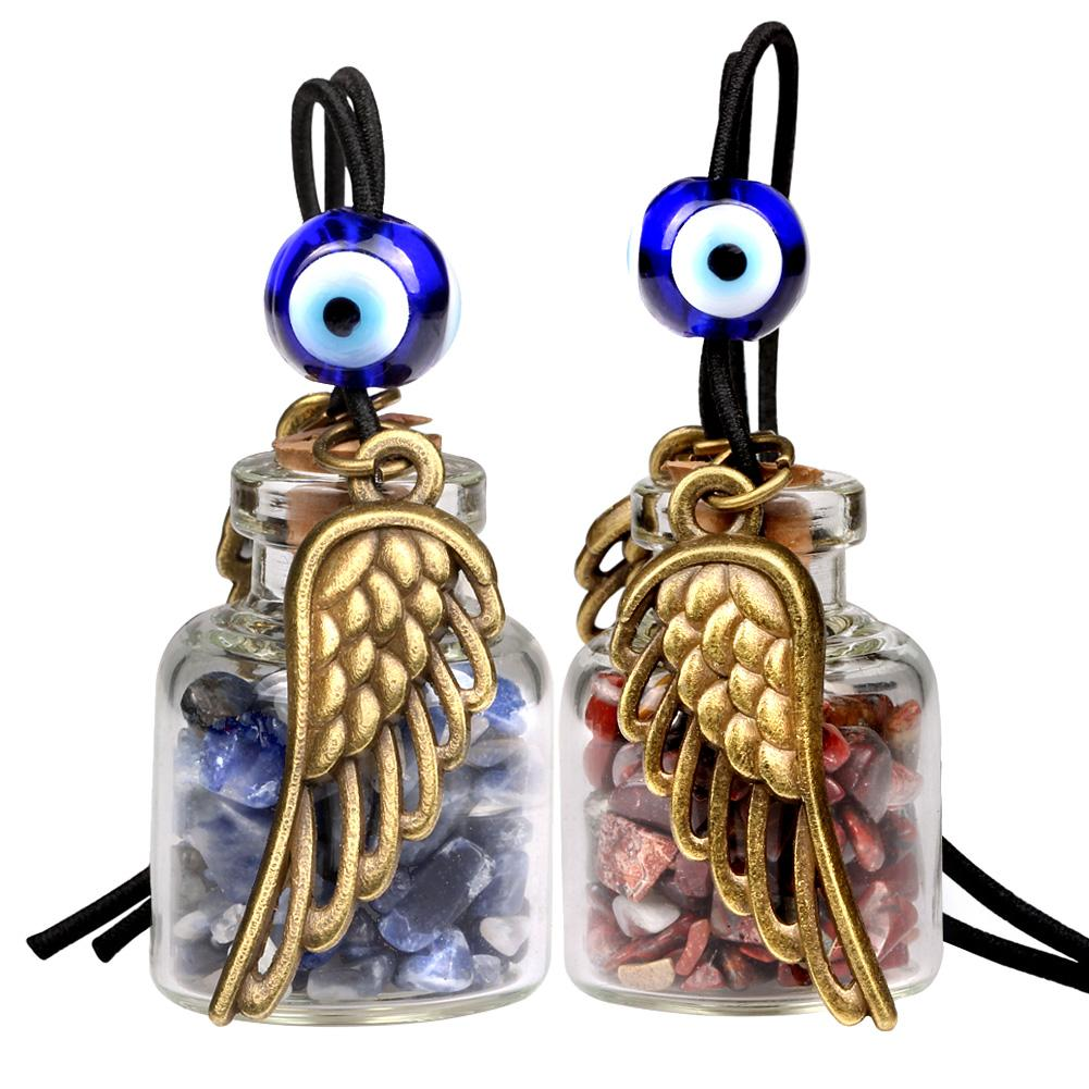 Angel Magic Wings Small Car Charms or Home Decor Gem Bottles Sodalite Jasper Protection Amulets