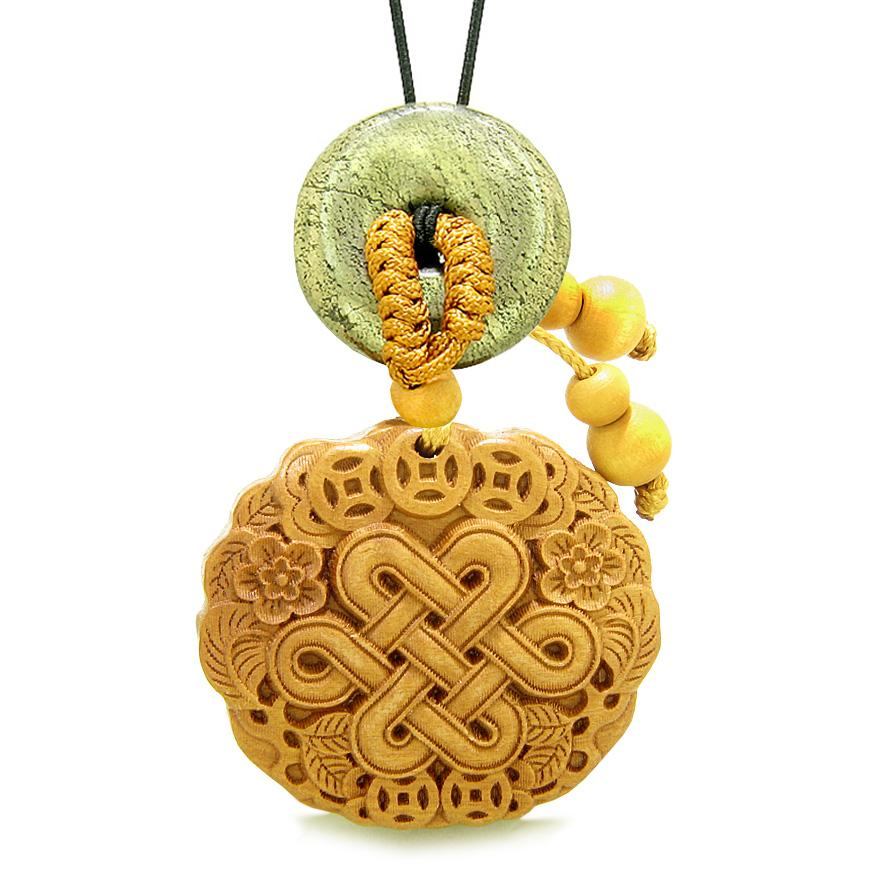 Celtic Shield Knot Lucky Coins Car Charm Home Decor Golden Pyrite IrDonut Protection Powers Amulet