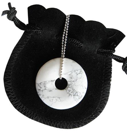 The Mom To Be Talisman Donut With Silver Chain