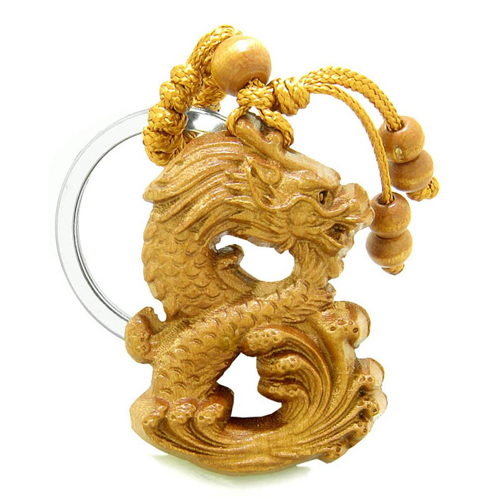 Amulet Brave and Magical Dragon Good Luck Charm Protection Powers Feng Shui Keychain Blessing