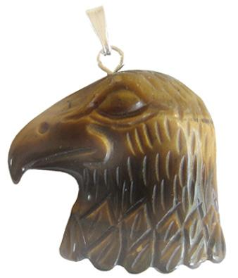 Evil Eye Protection Eagle Pendant In Tiger Eye