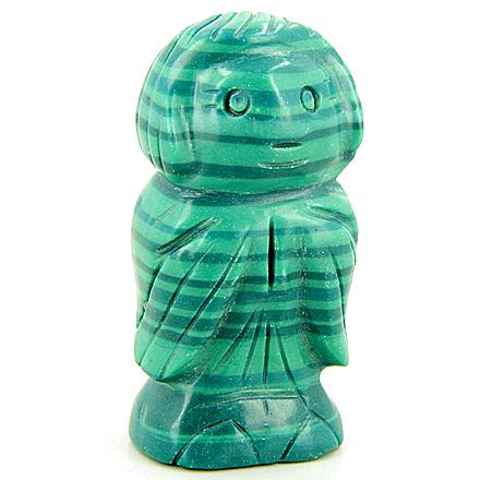 Malachite Talsiman Evil Eye Protection Pryaing Angel Carving