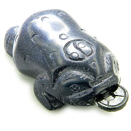 Lucky Coin Three Leg Todd Blue Goldstone Carving