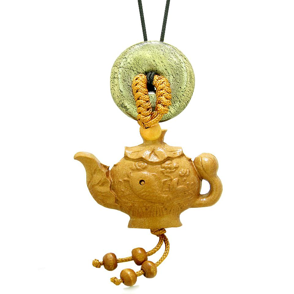 Magic Fish Money Lotus Pot Car Charm or Home Decor Golden Pyrite Iron Lucky Coin Donut Protection Amulet