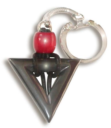 Hematite Protection Talisman Triangle Key Chain