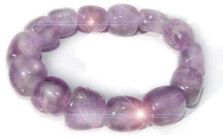 Travel Protection Bracelet In Amethyst And Crystals