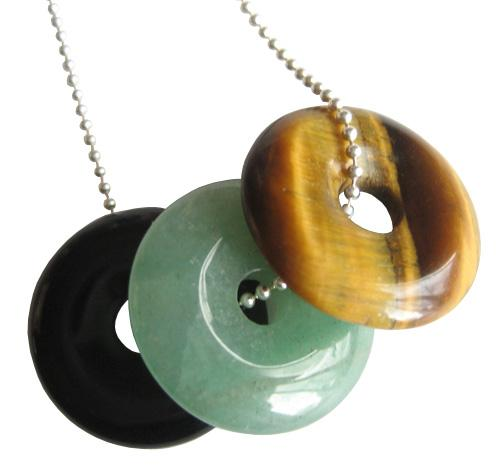 Super Crystal Lucky Talisman Donuts With Silver Chain 4