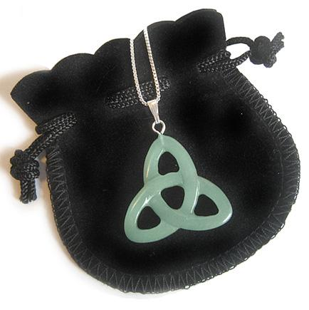 Money Talisman Celtic Triquetra Knot With 16