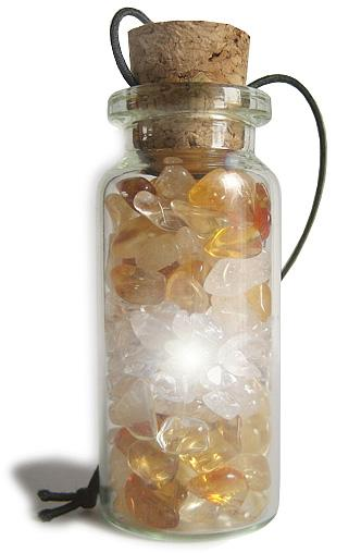 Business Attractor Talisman Bottle Car Hanger In Citrine