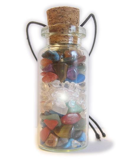 Gemstone Good Luck Bottle Car Hanger