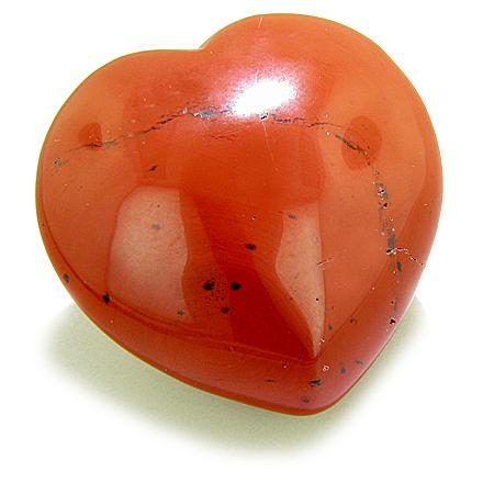 Puffy Heart Will Power Talisman Red Jasper Gemstone