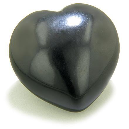 Puffy Heart Spiritual Protection Black Onyx Gemstone