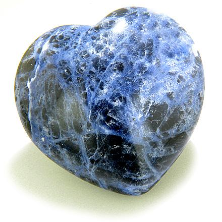 Good Luck Talisman Sodalite Gemstone Heart