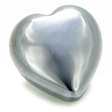 Evil Eye Protection Hematite Gemstone Puffy Heart