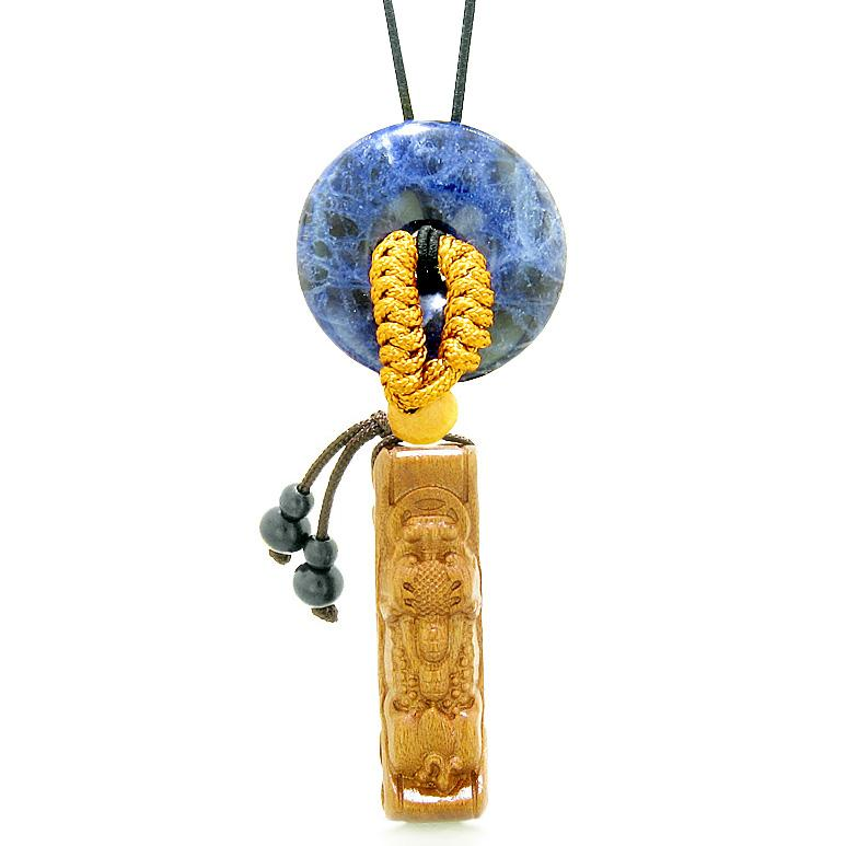 Magic Dragon Car Charm or Home Decor Sodalite Lucky Coin Donut Protection Powers Amulet