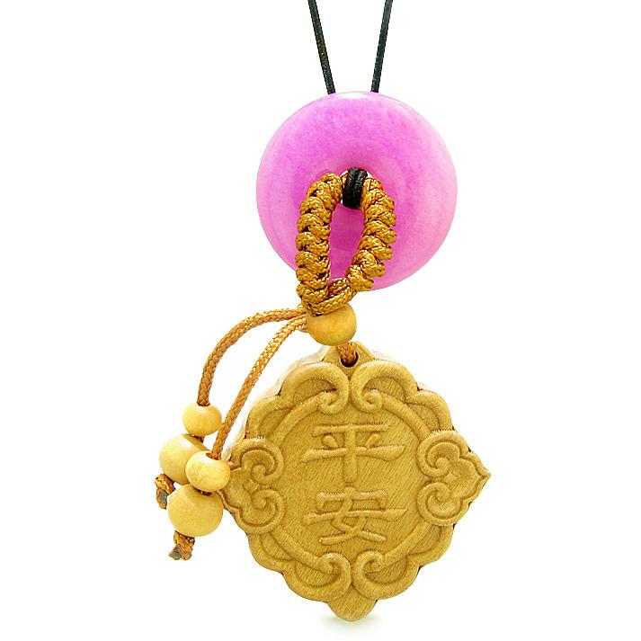 Good Luck Magic Car Charm or Home Decor Hot Pink Quartz Lucky Coin Donut Protection Powers Amulet