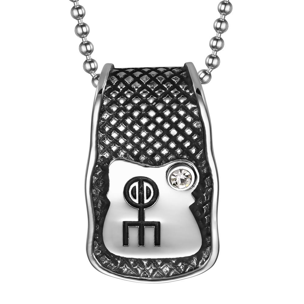 Unique Rune Norse Love Powers Ancient Amulet Snow White Crystal Magic Runic Tag Pendant 18 inch Necklace