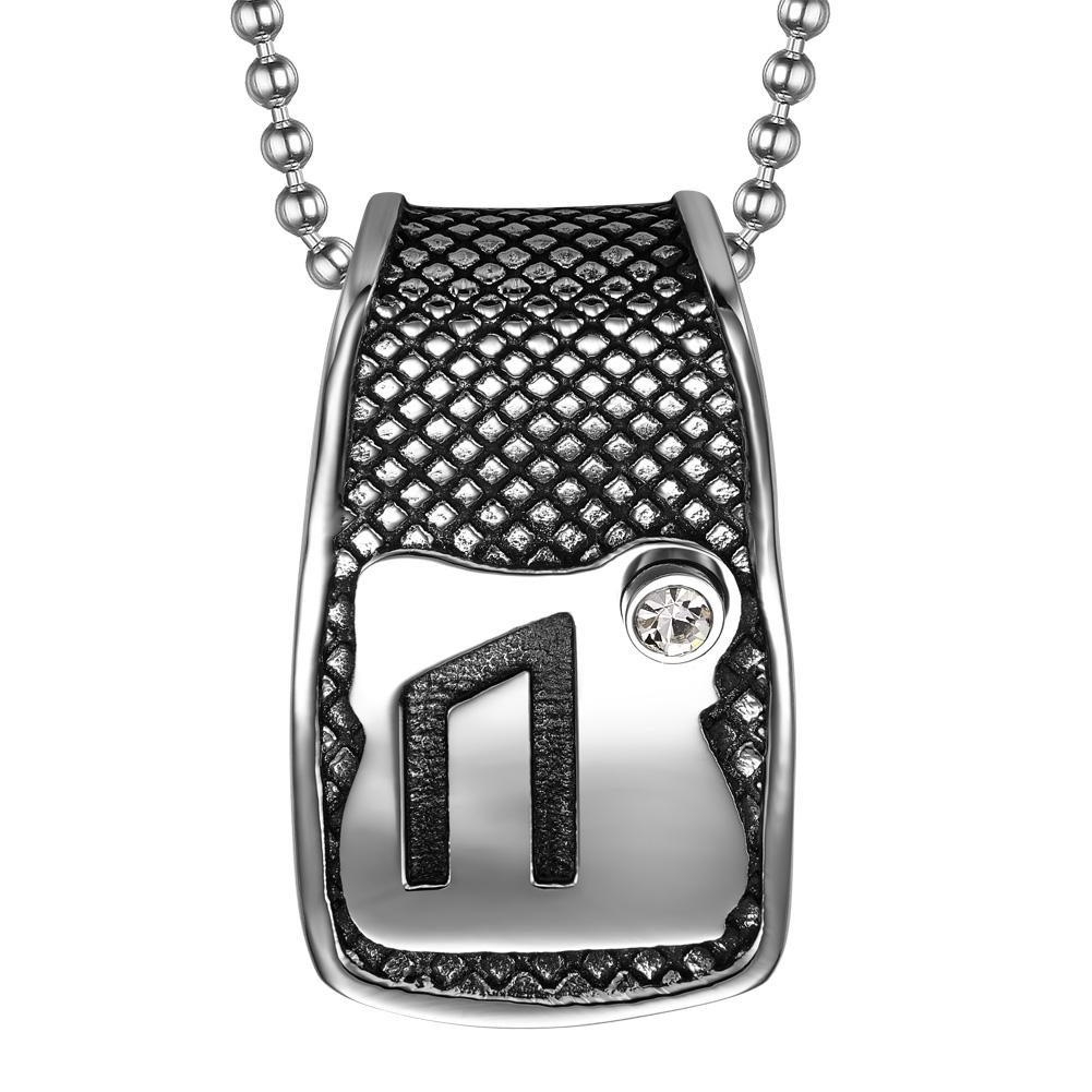 Unique Rune Uruz Strength Powers Ancient Amulet Snow White Crystal Runic Tag Pendant 18 inch Necklace