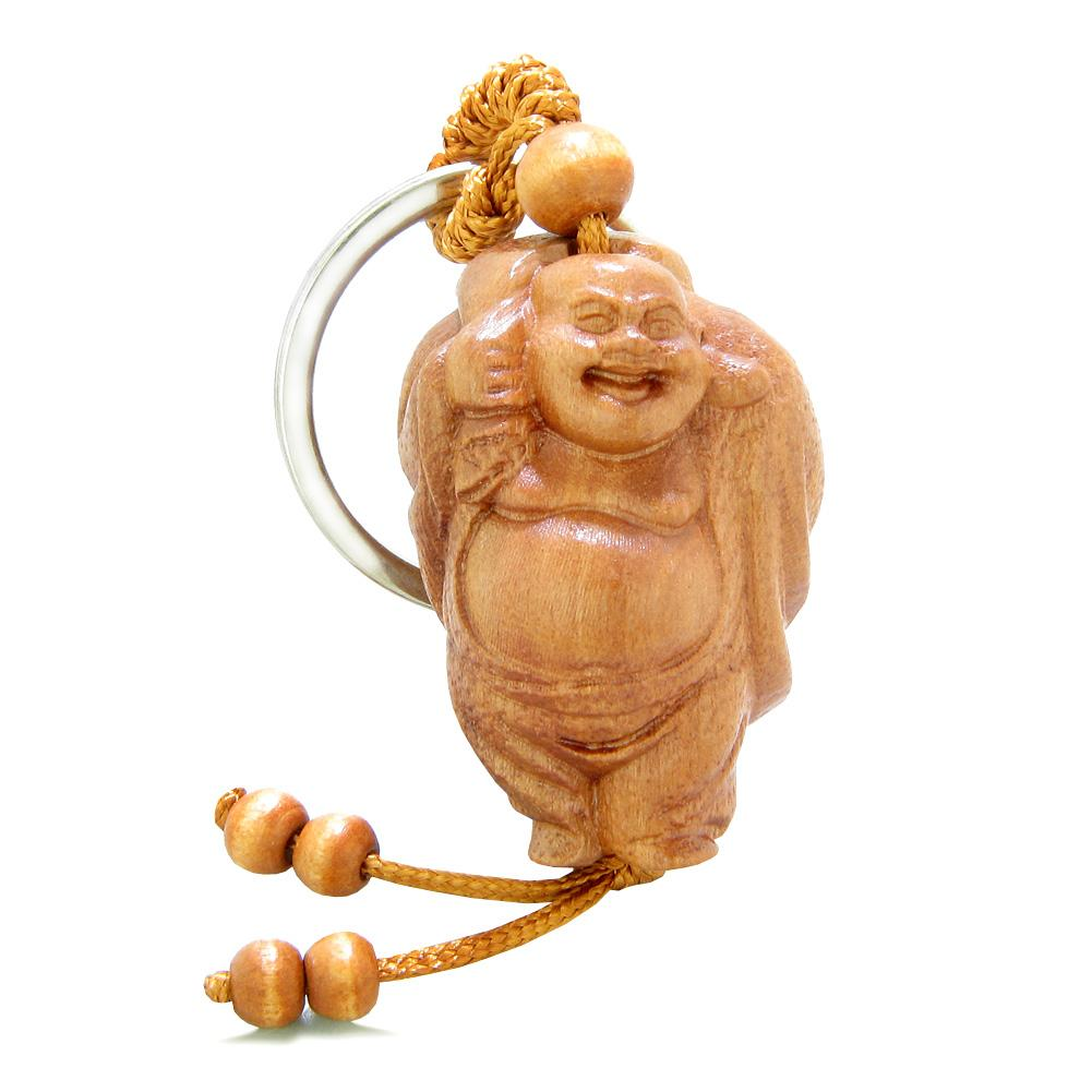 Amulet Happy Laughing Buddha Caring Money Bag Charms Fortune Feng Shui Symbols Keychain Blessing