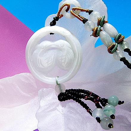 Love Birds Unique Jade Necklace