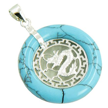 Amulet Dragon Magic Turquoise 925 Greek Style Pendant