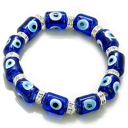Swarovski Crystals And Evil Eye Protection Bracelet