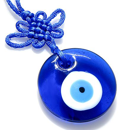 Evil Eye Protection And Celtic Knot Glass Charm