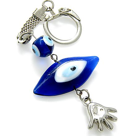 Evil Eye Protection Keychain And Happy Face Blessing