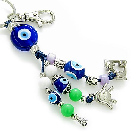 Evil Eye Protection Keychain And Happy Face Blessing 2