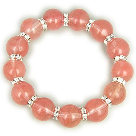 Protection Talisman Swarovski And Cherry Quartz Bracelet