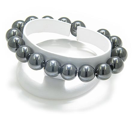 Magnetic And Protection Super Hematite Bead Style Bracelet