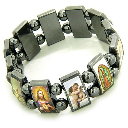 Holy And Protection Magnetic Hematite Bracelet