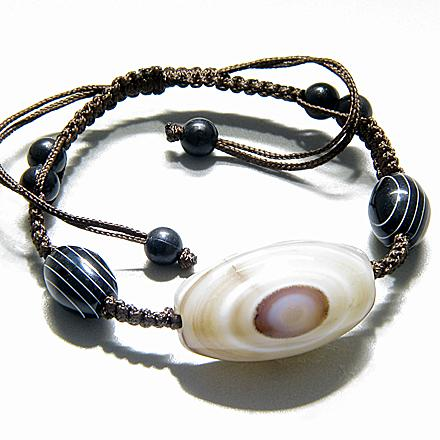 Talisman Good Luck And Protection Natural Agate Bracelet