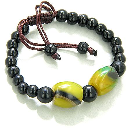 Good Luck Talisman Yellow Agate Bracelet