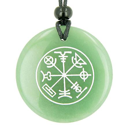 Talisman of Mercury Complete Circle of Time Green Aventurine Magic Good Luck Power Pendant Necklace
