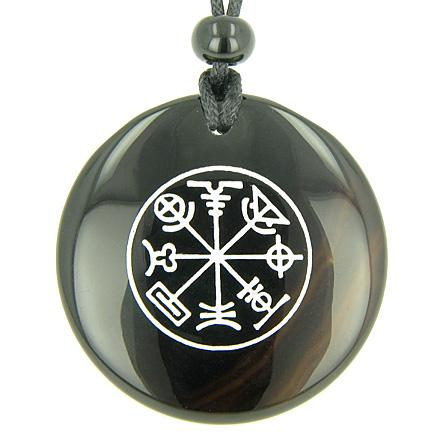Talisman of Mercury Complete Circle of Time Onyx Magic Gemstone Spiritual Powers Pendant Necklace