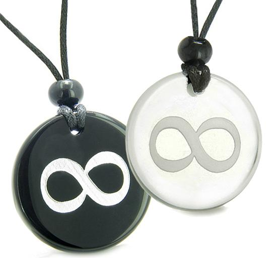 Amulet Eternity Infinity Possibilities Love Couple Best Friend Magic Quartz Onyx Pendants Necklaces