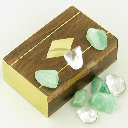 Small Treasure Chest Money Talisman Wish Box With Aventurine