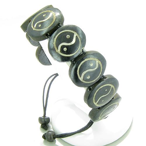 Amulet Original Tibetan Yin Yang Positive Energy Eight Magic Circles Carved Lucky Charms Bracelet