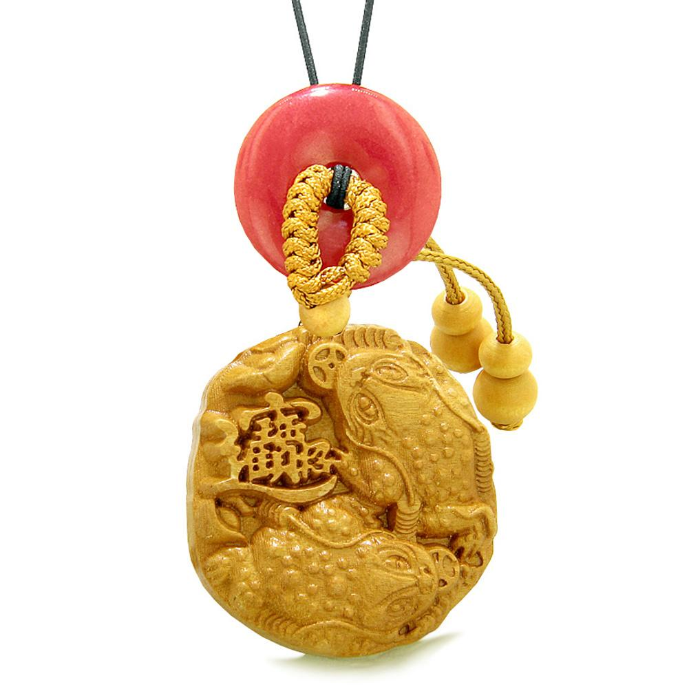 Fortune Coins Magic Todd Car Charm or Home Decor Red Quartz Lucky Donut Protection Powers Amulet