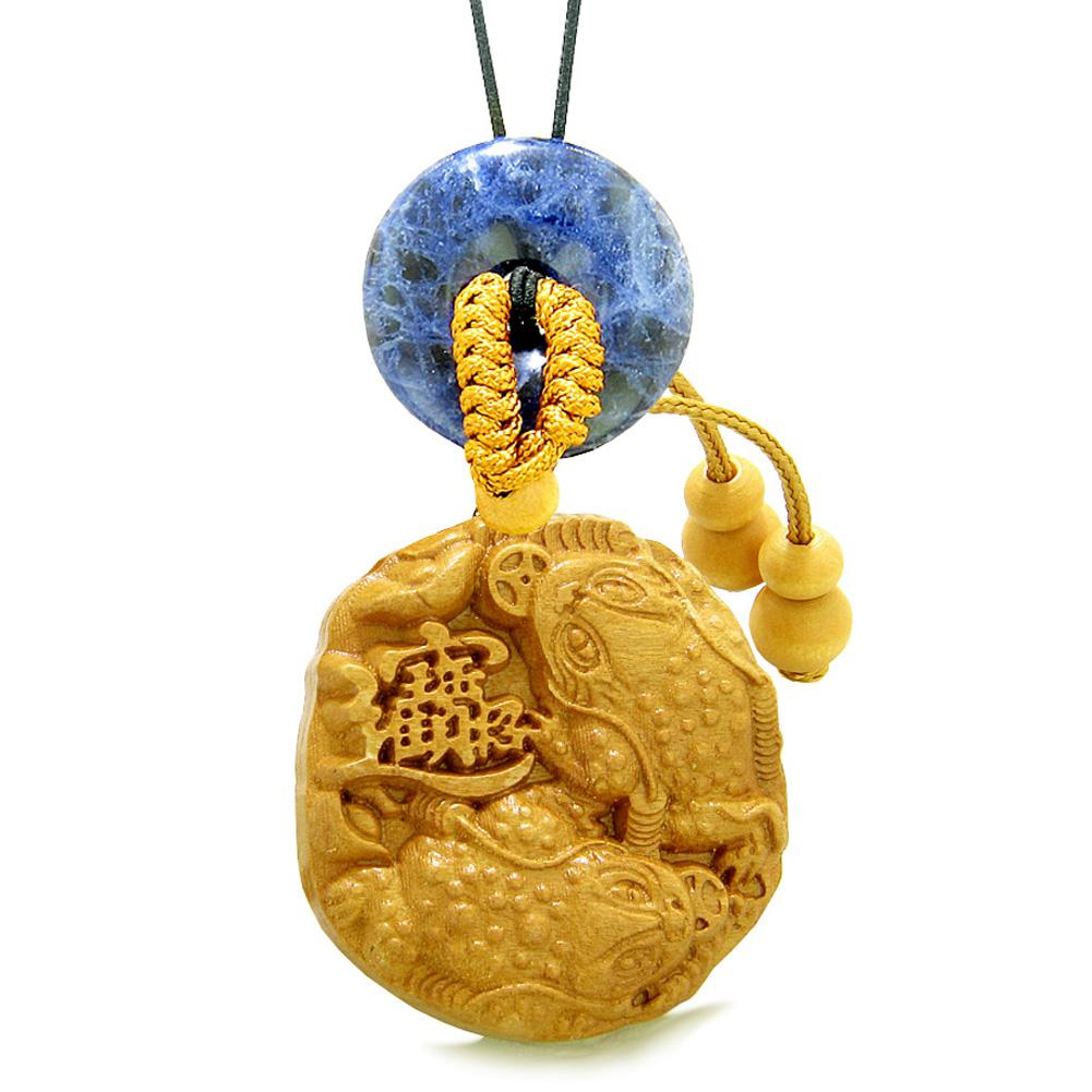 Fortune Coins Magic Todd Car Charm or Home Decor Sodalite Lucky Donut Protection Powers Amulet