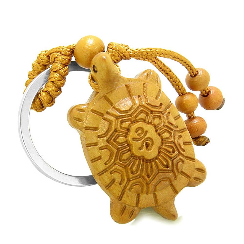 Amulet Fortune Sea Turtle Good Luck Charm Protection Powers Feng Shui Cute Keychain Blessing