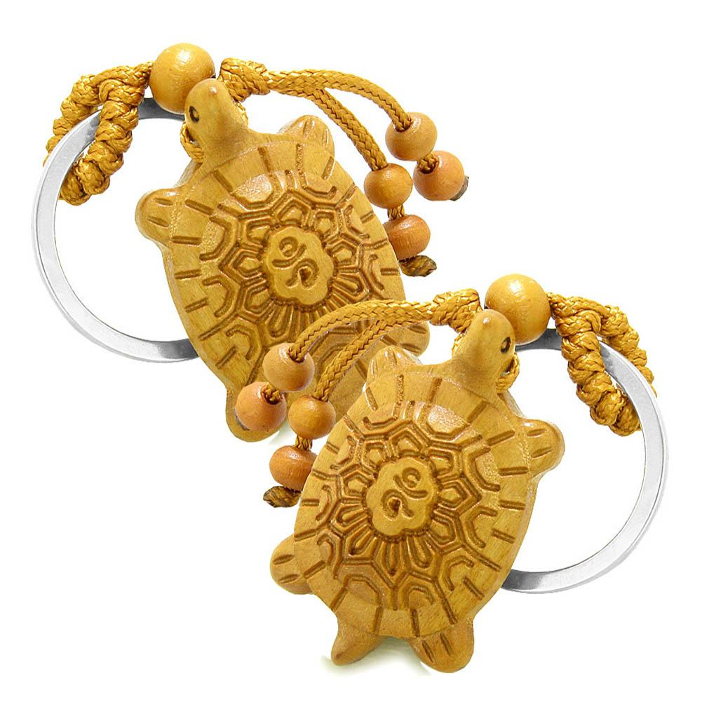 Amulet Fortune Sea Turtle Good Luck Charm Protection Powers Feng Shui Cute Keychain Set Blessings