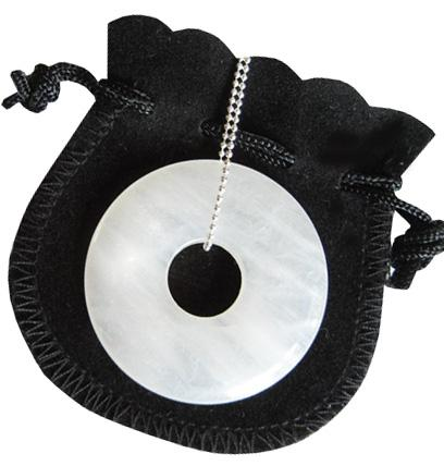Evil Eye Protection Talisman Donut With Silver Chain 3